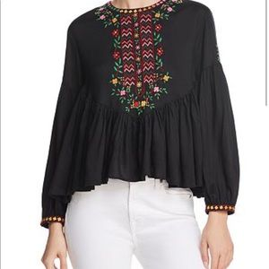 NWT Joie Ghita Embroidered Top Sz XS